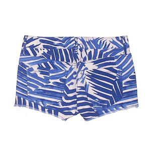 Express | blue and white striped denim shorts